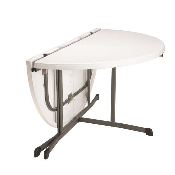 Lifetime 80326 60 Inch Round Fold In Half Folding Tables 8