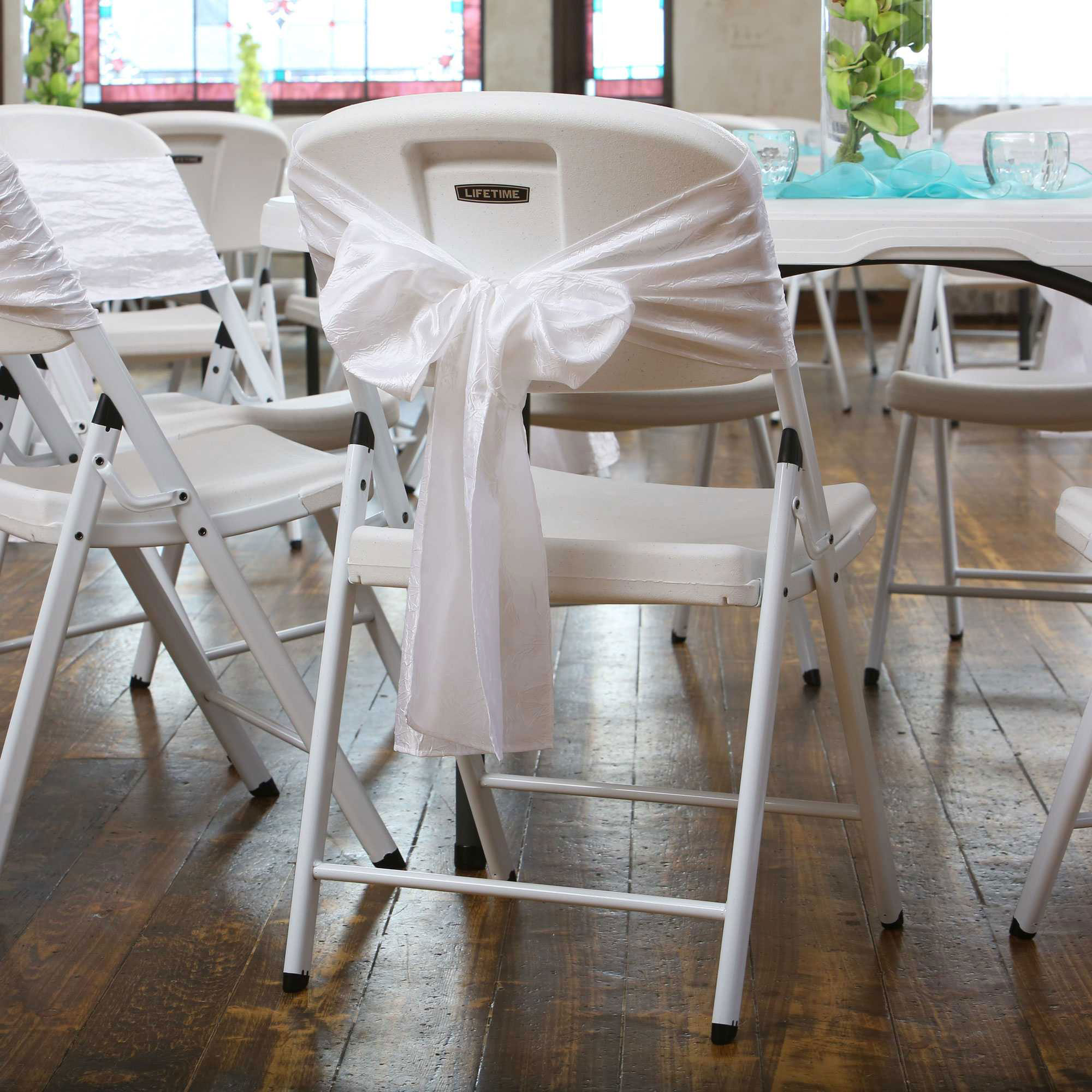 lifetime 80359 white wedding chair 32 pack on sale with fast shipping