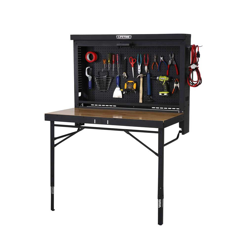 lifetime 80421 garage fold up work table on sale with fast shipping. Black Bedroom Furniture Sets. Home Design Ideas