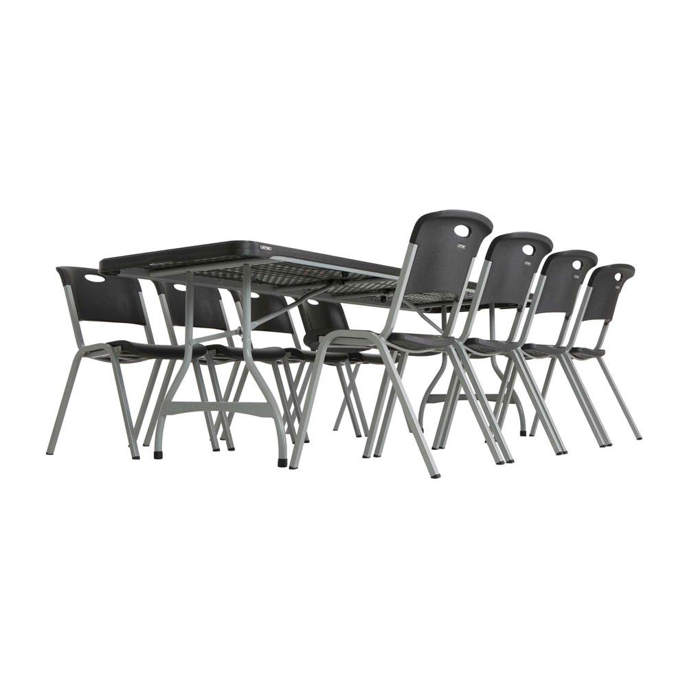 Lifetime 480462 Black Lifetime 8 4 Pack Tables On Sale