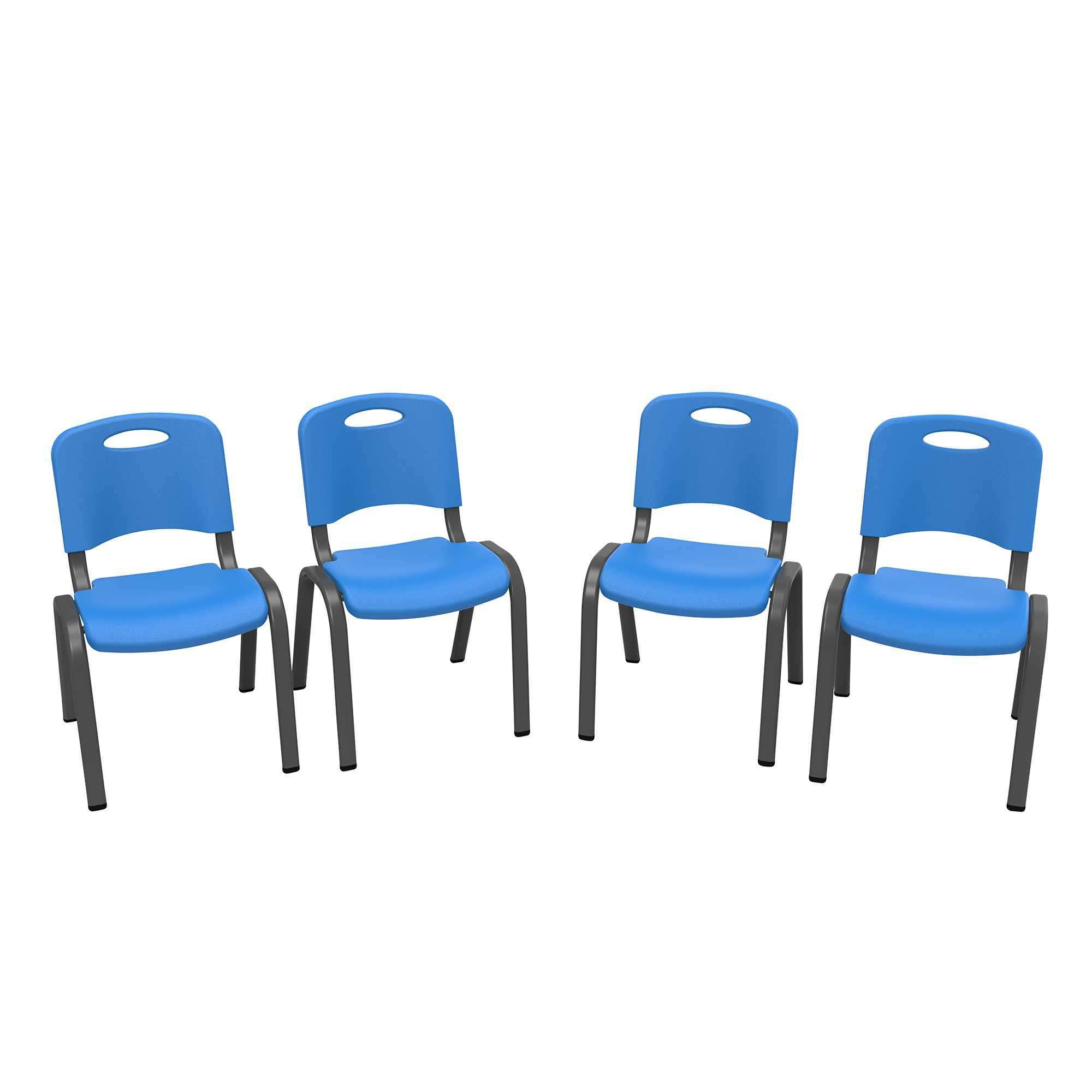 65b4db3a7a5 Lifetime Childrens Stacking Chairs 80533 4-Pack Dragonfly Blue Item ...