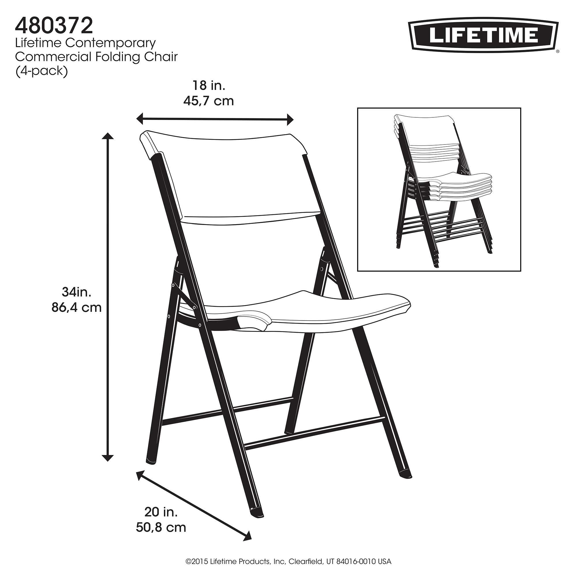 Lifetime Almond 34 Pack Folding Chair on Sale with Free Shipping