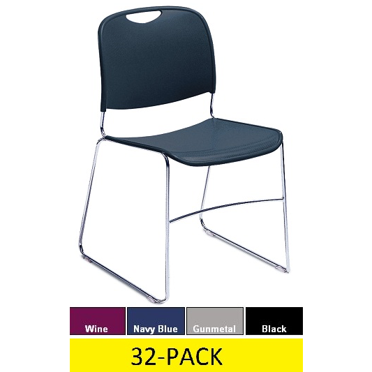 Plastic Stacking Chairs   National Public Seating 8500 Series 32 Pack