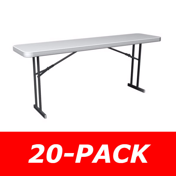Lifetime Folding Seminar Tables 880176 White Granite 6 Foot 20 Pack