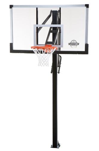Lifetime Basketball Hoop 90013 60 Inch Glass Backboard