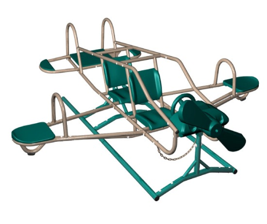 Lifetime Playground Equipment Airplane Teeter Totter - Ace Flyer 90135 Earth Tone Double Play Gym