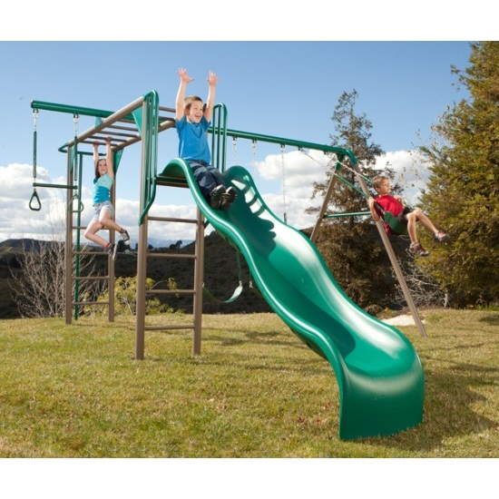 Lifetime 90143 Monkey Bar Play Set Playground With Slide Earth Tone