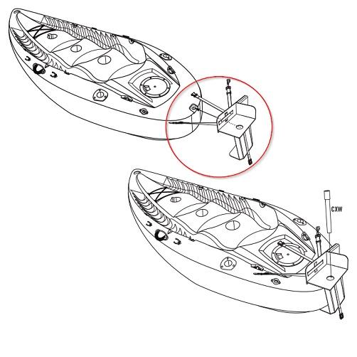 Lifetime Kayak Accessory 90144 Fishing Kayak Motor Mount, Battery Case