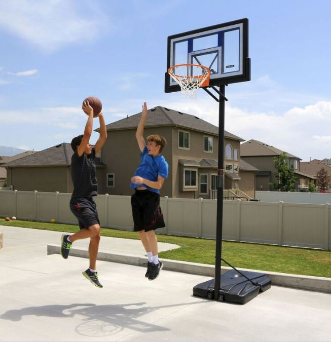 Good Convert Lifetime Portable Basketball Goal To Inground Round Designs