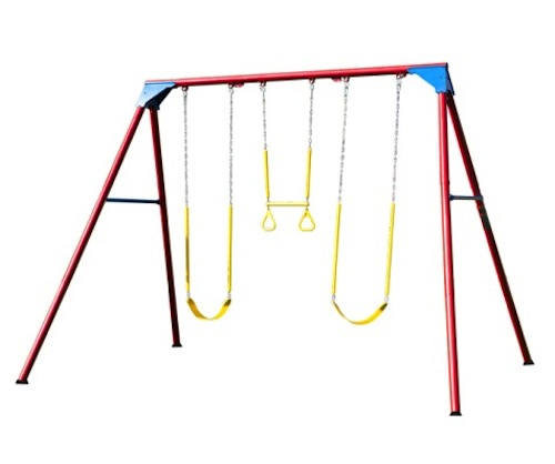Heavy Duty A Frame Metal Swing Set 90200 Primary Colors