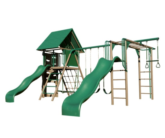 90240 Double Slide Metal Playground On Sale With Fast
