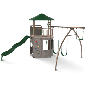 Lifetime Playground Equipment Adventure Tower Playset (Earthtone)