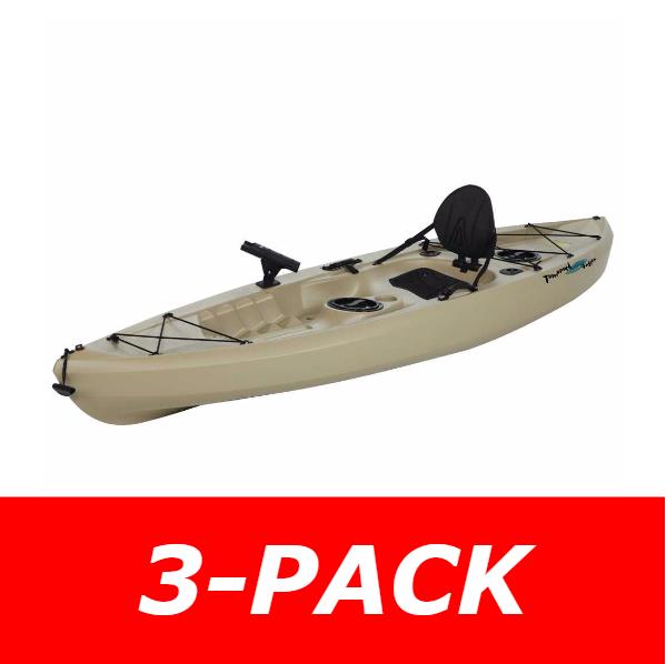 3-Pack - Lifetime Tamarack 90508 Muskie Angler 10-foot Sit On Top Fishing  Kayak