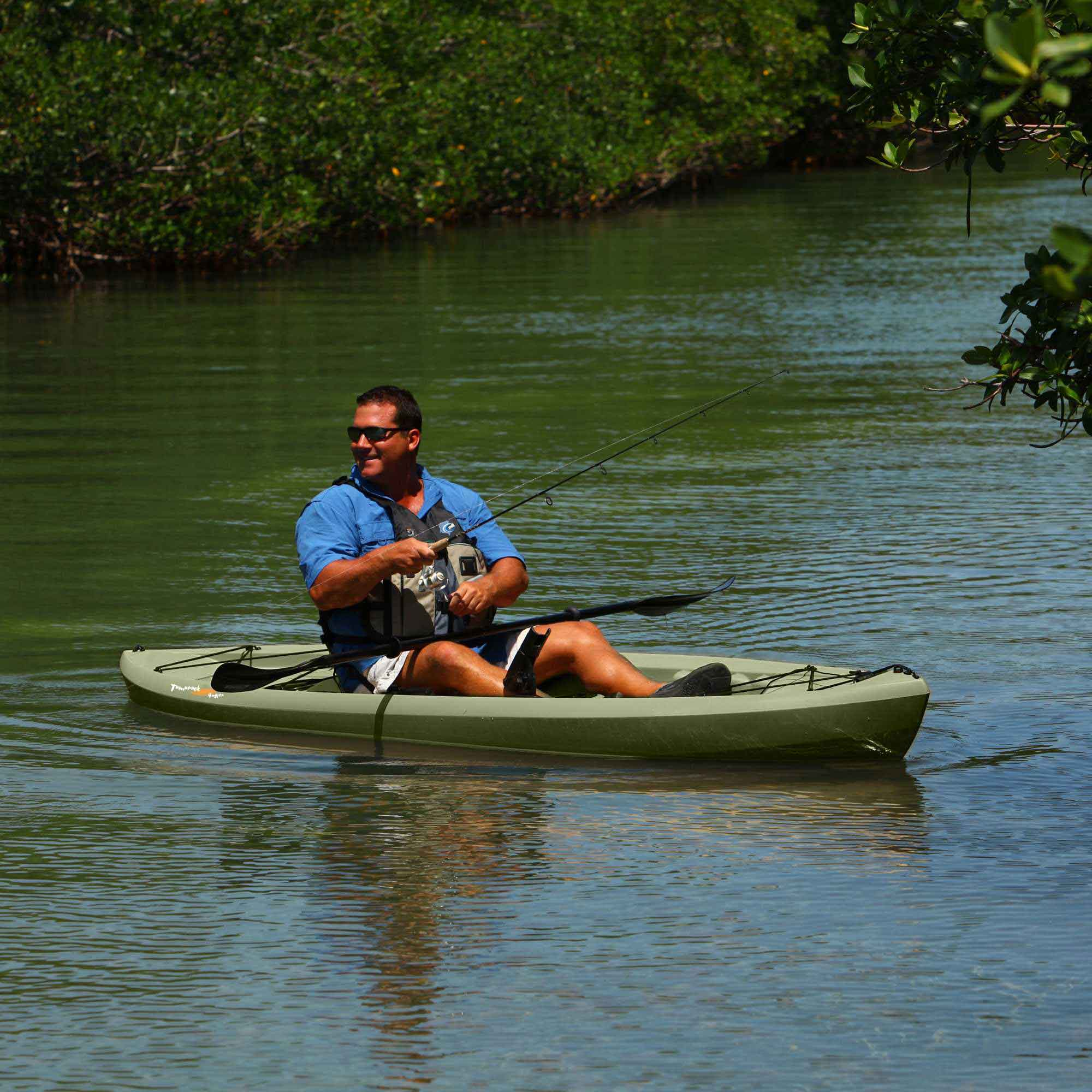 lifetime olive angler kayak on sale free shipping free