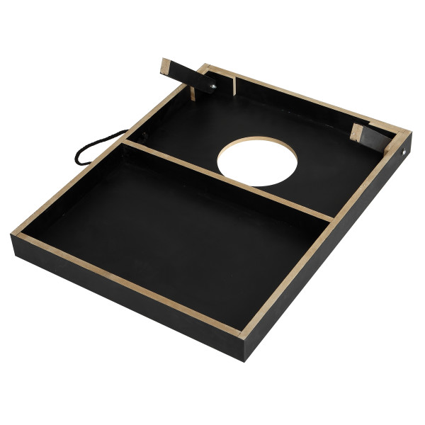 Hathaway Compact Cornhole Bean Bag Toss Game Set Black