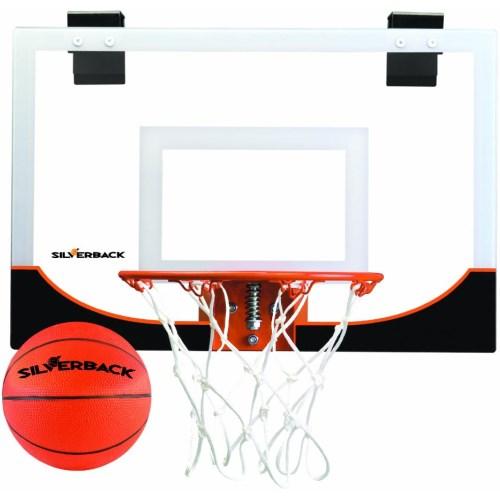 Silverback 18 inch g02270w mini indoor basketball hoop for Basketball hoop inside garage