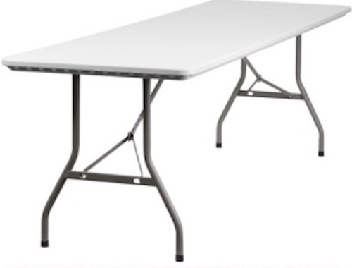 Plastic Folding Tables - 8 Foot RB-3096-GG Banquet Tables - 20 Pack