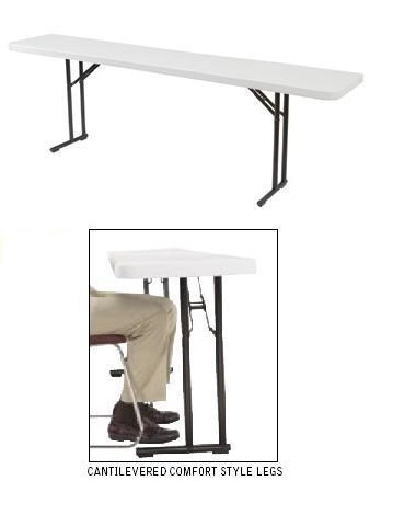 Seminar Tables - NPS Bt1860 Gray 18 x 60 inch Folding Table 20 Pack