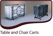 Table Carts, Chair Carts