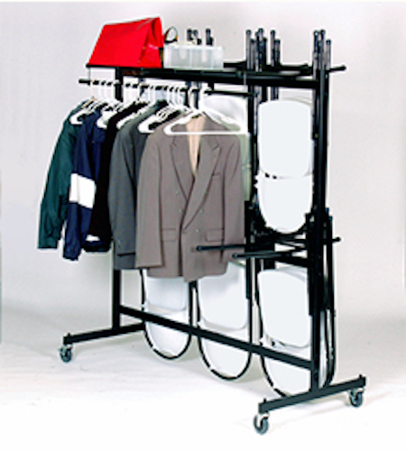 Correll C84 C Hanging Folding Chair Cart And Coat Rack
