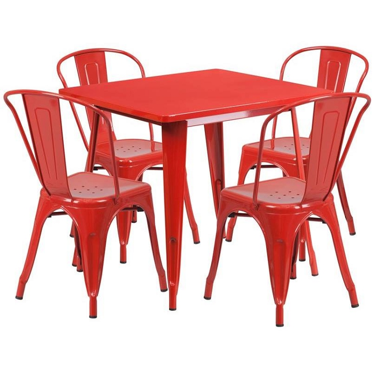 Restaurant Furniture Et Ct002 31 5 Inch Table With 4