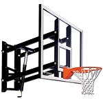 Goalsetter Wall-Mount Adjustable 72-inch Glass Backboard System with HD Flex Rim