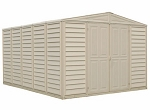 00584 WoodBridge 10.5x13 Vinyl Shed + Foundation Kit