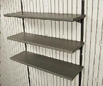 Lifetime Shed Accessories 5 Pack 10 x 30 In Shelves for 11' Wide Sheds