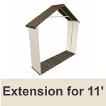 Lifetime Storage Shed Extension Kit 0125 30-in Long for 11-Ft Buildings