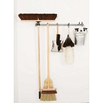 Money Bar Storage 05013 Mop, Broom, & Cleaning Supplies Storage Rack