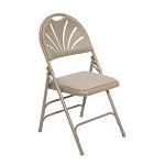 4 National Public Seating model 1000 Ergonomic Fan Back Folding Chairs