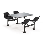 OFM Cluster Table - 1004 24 x 48 inch Table with 4 Seat Chairs