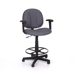 Computer Task Chair - 105-aa-dk With Drafting Kit and Arms