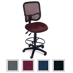 Mesh Back Ergonomic Office Chair - OFM 130-Dk Task Chair with Footrest