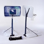 Lifetime Basketball Hoop Portable Poolside with Volleyball Net