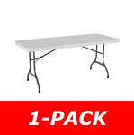 22901 Lifetime 6' Rectangular Table 1 Pack with White Granite Color Top