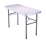 Lifetime Folding Table 22950 Lightweight 4' White Granite Plastic Top