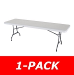 Lifetime Folding Table 22980 8-Ft White Granite Color Top Single Pack