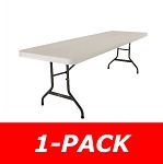 Lifetime 8-Ft Rectangular Folding Table 22984 1 Pack Almond Color Top
