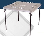 Almond Folding Domino Square Care Table SO 2492 22 PACK Lifetime 34 In