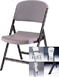 SO 2710 24 PACK Lifetime Advantage Putty Folding Chair