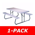 Lifetime Picnic Tables - 80215 Folding Picnic Table 6 ft. White Top