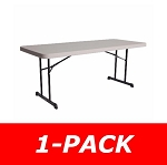Lifetime Folding Table - 80126 6 Foot Professional Grade Putty Top