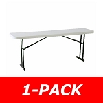 Lifetime Seminar Folding Table 80177 Commercial 8' White Granite Table