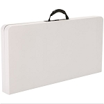 Lifetime Card Tables 280228 37-inch White Granite Fold-In-Half
