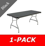 6 ft. Commercial Nesting Lifetime Plastic Table 1-Pack 280350 (Black)