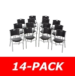 Lifetime Stacking Chairs 2830 Black Molded Seat - 14 Pack