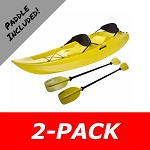 2-Pack Savings Manta 90118 10 ft. Yellow Water Craft Sit-On-Top Kayaks