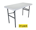 Lifetime Tables - 2940 Light Duty 4 Ft. Table White Granite 24 Pack