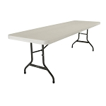 Lifetime Folding Tables 2992 8-Foot Almond Plastic Top 21 Pack